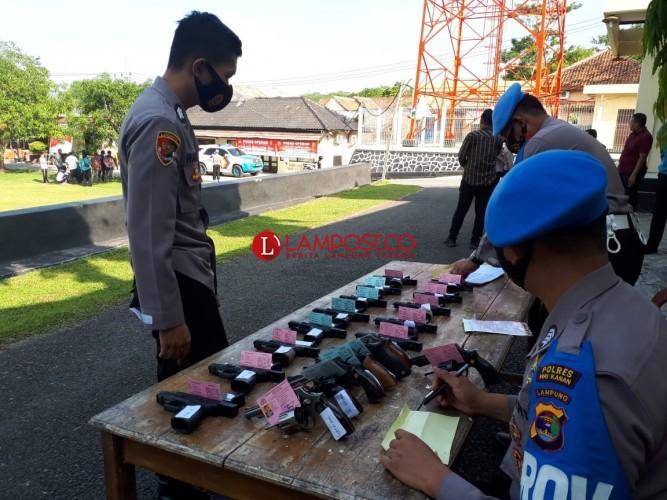 Tingkatkan Disiplin, Propam Polda Lampung Gelar Gaktiblin di Polres Way Kanan