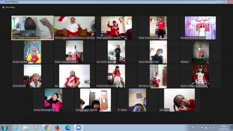 TK Sari Teladan Rayakan Hari Kemerdekaan Secara Virtual