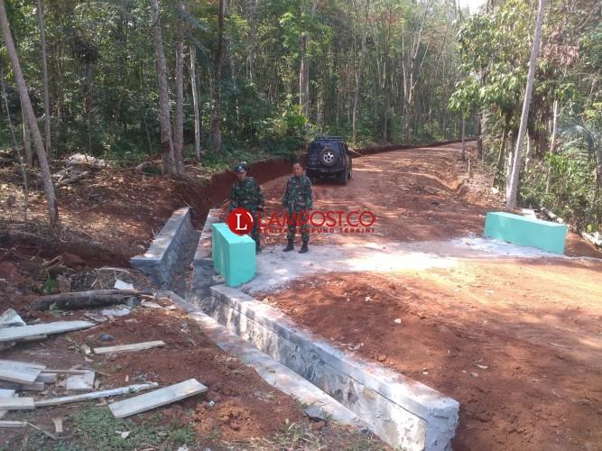 TMMD KE-105 Kodim 0412 Lampura Masuk tahap Penyelesaian Fisik