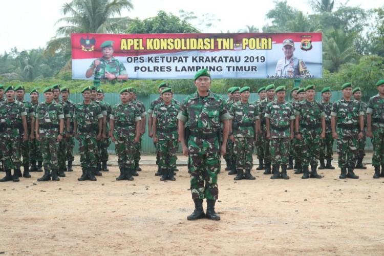 TNI-Polri Gelar Apel Konsolidasi Pascaoperasi Ketupat Krakatau 2019