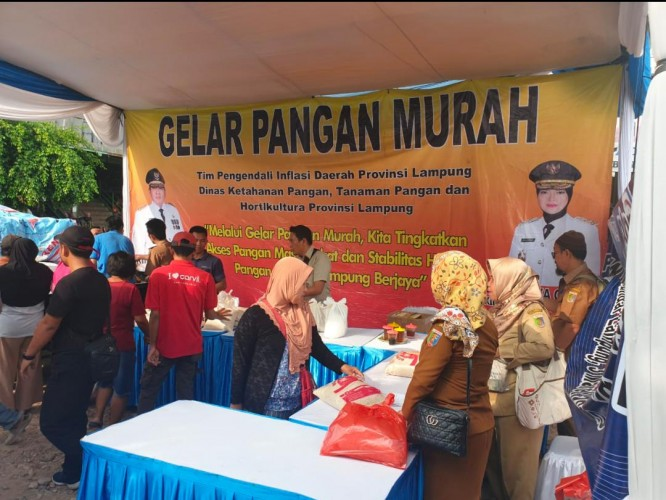 TPID Lampung Gelar Pasar Murah Antisipasi Kelangkaan Gula
