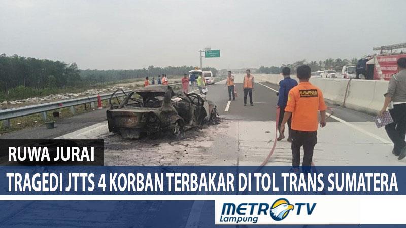 Tragedi JTTS 4 Korban Terbakar di Tol Trans Sumatera