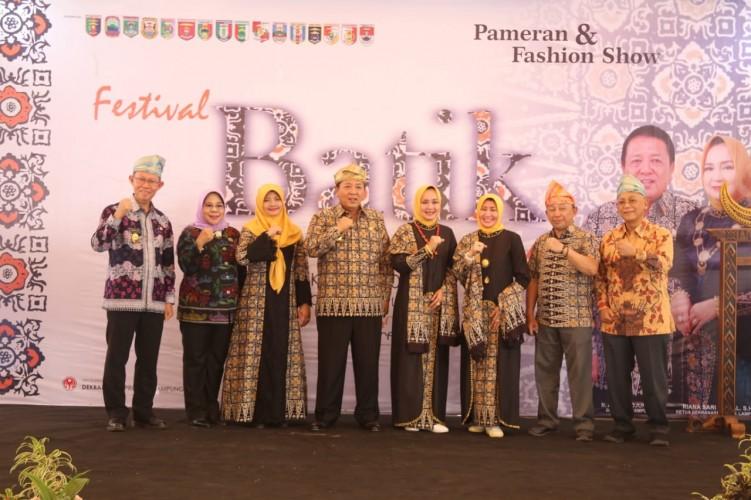 Transaksi Festival Batik Lampung Capai Rp119 Juta