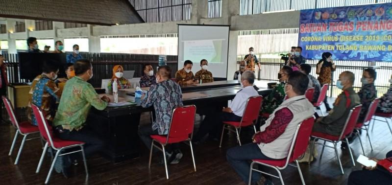 Tubaba Laporkan Penerapan PPKM ke Satgas Covid-19 Provinsi