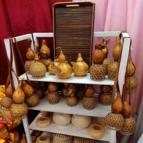 Tubaba Pamerkan Tumbler Labu di Lampung Craft Festival