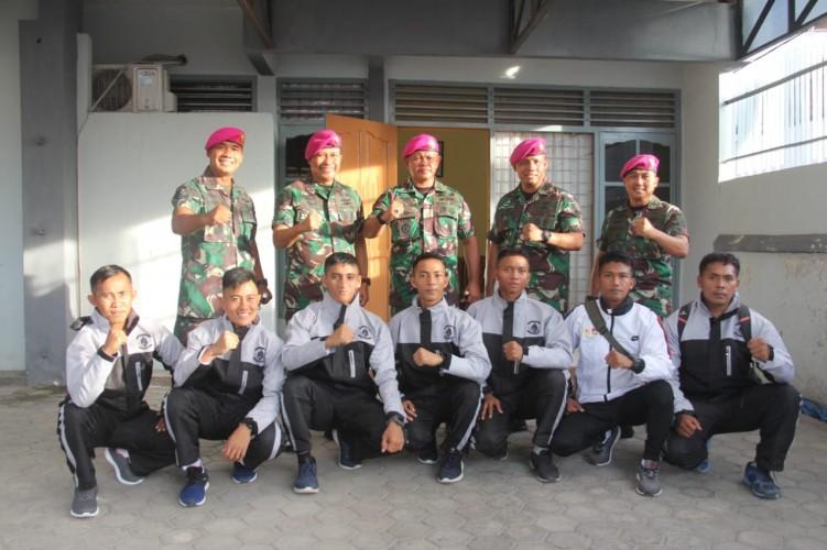Tujuh Prajurit Marinir Gabung Lemkari Lampung ke Piala Anton Lesiangi