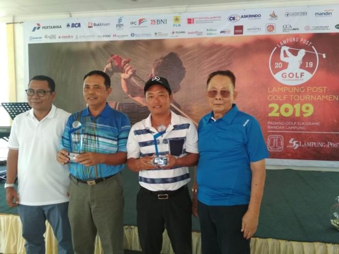 Turut Santoso Kembali Raih BGO di Turnamen Golf Hut Lampung Post dan Padang Golf Sukarame