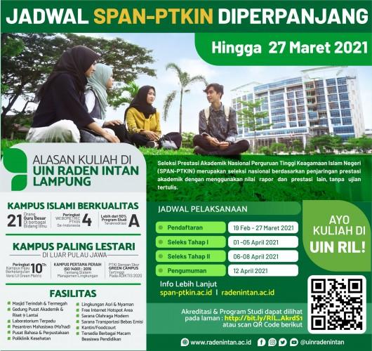 UIN Raden Intan akan Tampung 2.000 Mahasiswa via SPAN-PTKIN