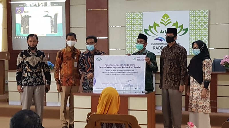 UIN Raden Intan-Muamalat Teken Kerja Sama Pemanfaatan Layanan Perbankan Syariah