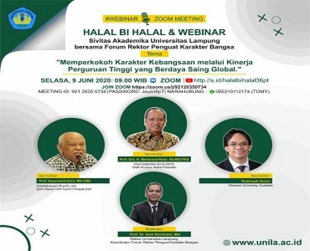 Unila dan 35 Rektor Bahas Penguatan Karakter Bangsa