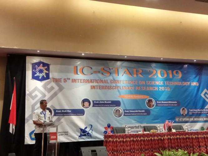 Unila Hadirkan Lima Penulis Jurnal Dalam IC STARS 2019