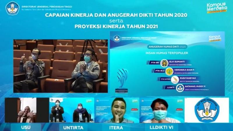 Unila Sabet Kategori Layanan Pengaduan Publik Terbaik Anugerah Humas Dikti 2020