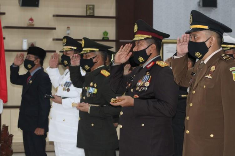 Upacara HUT Ke-75 TNI Secara Virtual Berjalan Khidmat