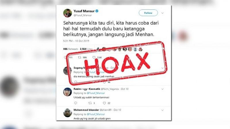 Ustaz Yusuf Mansur Sarankan Prabowo Jadi Ketua RT Dulu?