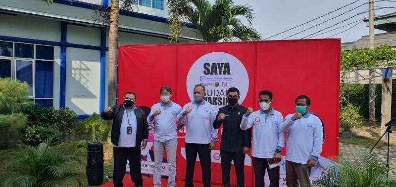 Vaksinasi Apindo-OJK dan PNM Lampung Lancar tak Berkerumunan