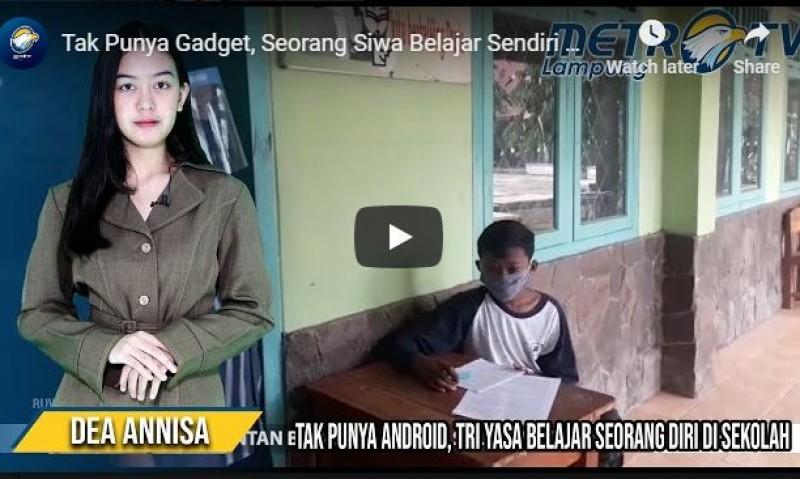 Video Tri Yasa Belajar Seorang Diri di Sekolah Karena Tak Punya Android