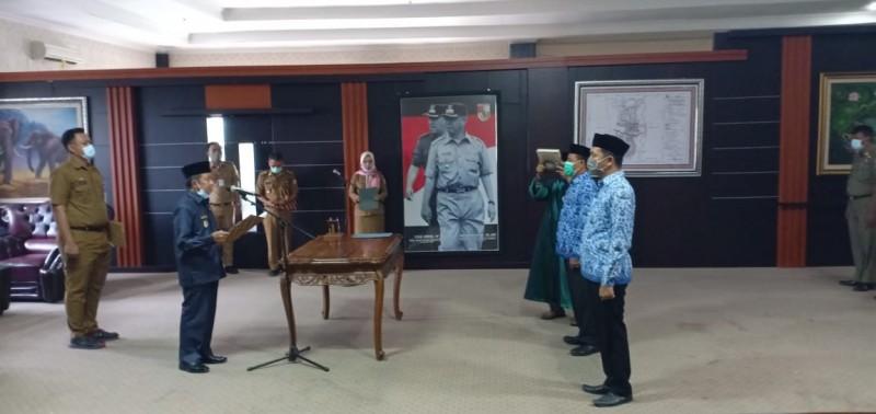 Wabub Tubaba Pimpin Pelantikan Pejabat Eselon III