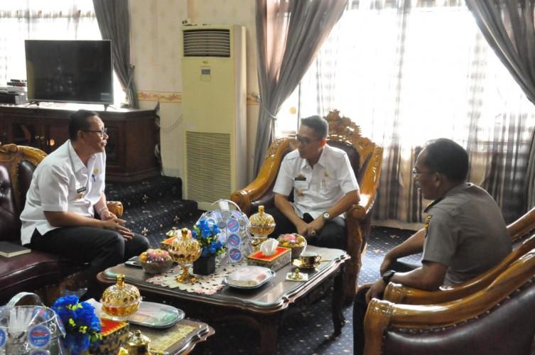 Wabup Lamtim Terima Kunker Ditpamobvit Polda Lampung