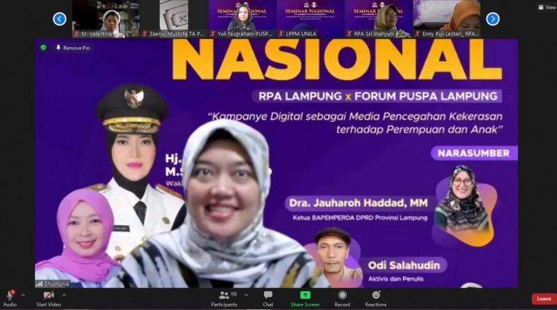 Wagub Lampung Ajak Manfaatkan Internet untuk Cegah Kekerasan terhadap Perempuan dan Anak