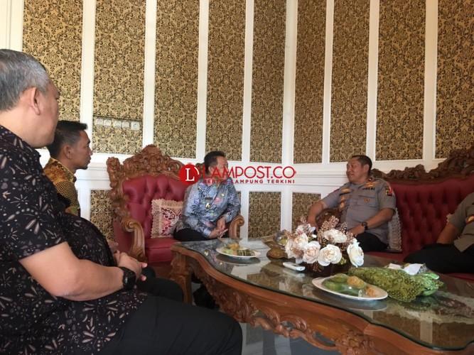Wakapolda Lampung Cek Kesiapan Lahan Mapolres Tubaba