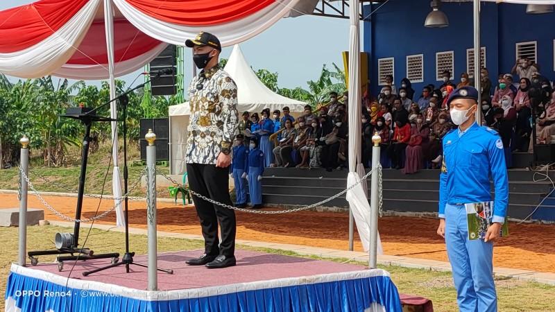 Wakil Bupati Lamsel Tutup Diksar PDK SMA Kebangsaan