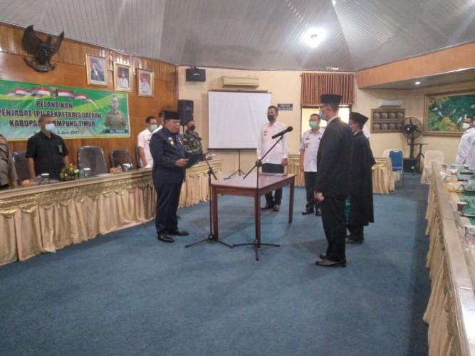 Wakil Bupati Lamtim Lantik Tarmizi Sebagai Pj Sekkab