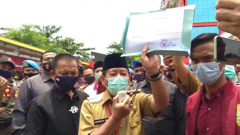 Wali Kota BuatSurat Pernyataan Terkait Aksi Damai Tolak Omnibus Law