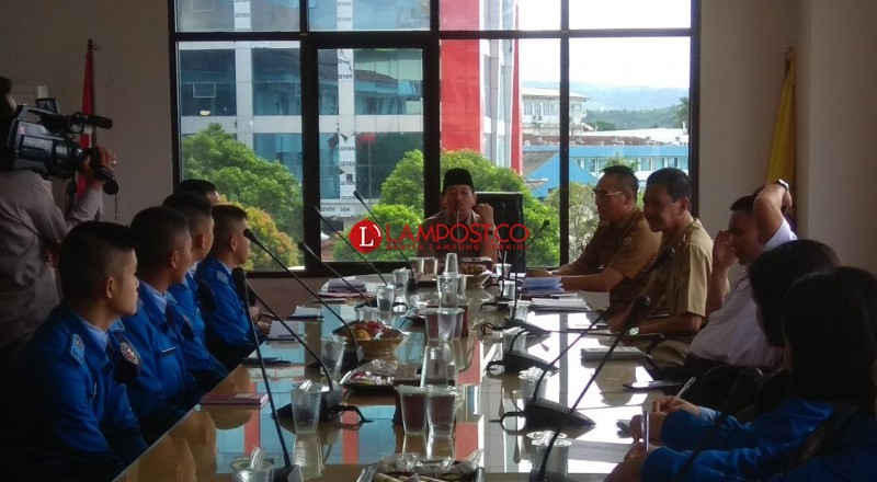Wali Kota Herman HN Terima Kunjungan Siswa Taruna Nusantara