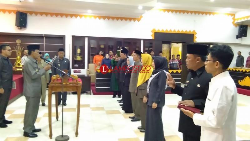 Wali Kota Metro Lantik Kadis dan Direktur RSUD A. Yani