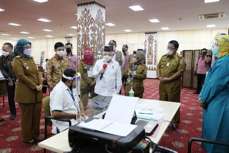 Wapres Dorong Lampung Percepat Penanganan Vaksinasi
