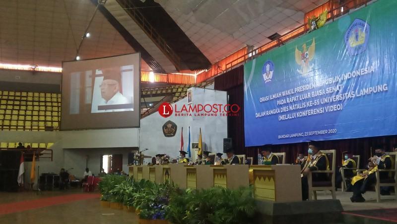 Wapres Harap Unila Jadi Aktor Pengembangan SDM Lampung