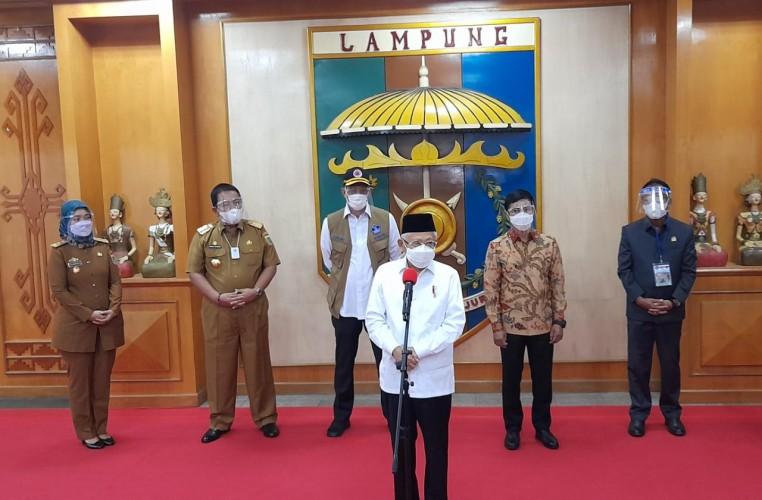 Wapres Ma'ruf Amin Apresiasi Vaksinasi di Lampung