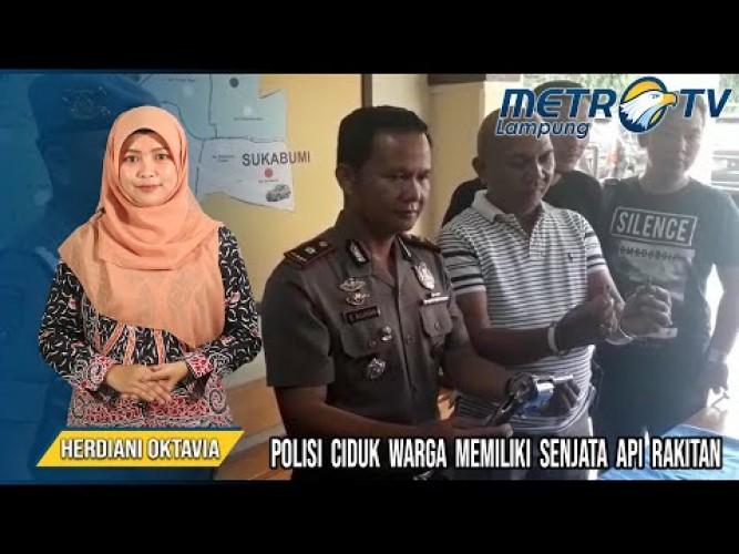 Warga Bandar Lampung, Diciduk Polisi Memiliki Senjata Api