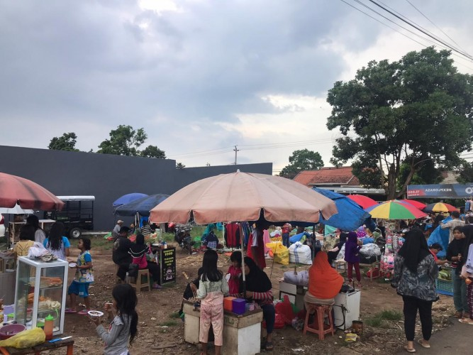 Warga Berharap Kepolisian Tertibkan Pasar Kaget