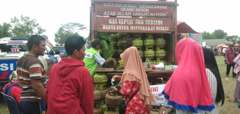 Warga Kalianda Serbu Pasar Murah di Musrembang Kecamatan