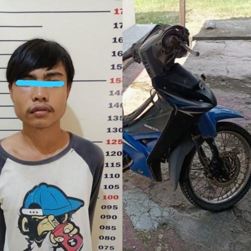 Warga Kalianda Tangkap Pemuda Pencuri Motor Petani