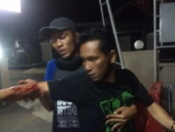 Warga Kaliawi Dibacok Saat Pulang Main Futsal