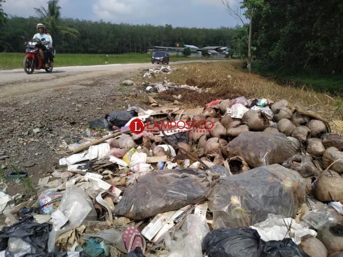 Warga Keluhkan Tumpukan Sampah di Tepi Jalan Kotabaru