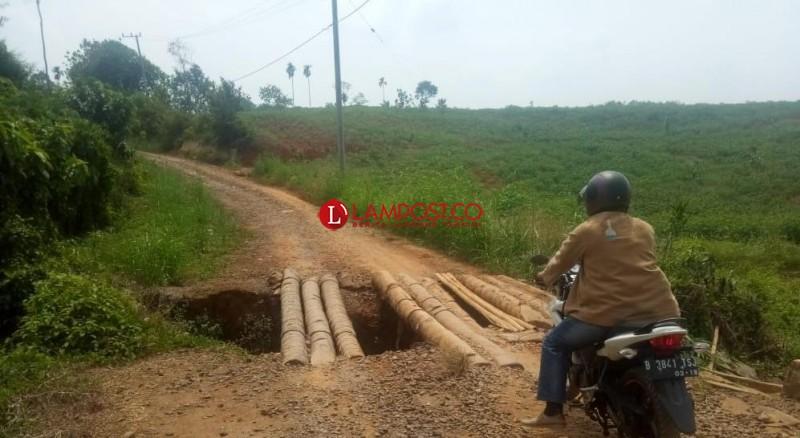 Warga Kotabumi Tuntut Pemerintah Perbaiki Jalan