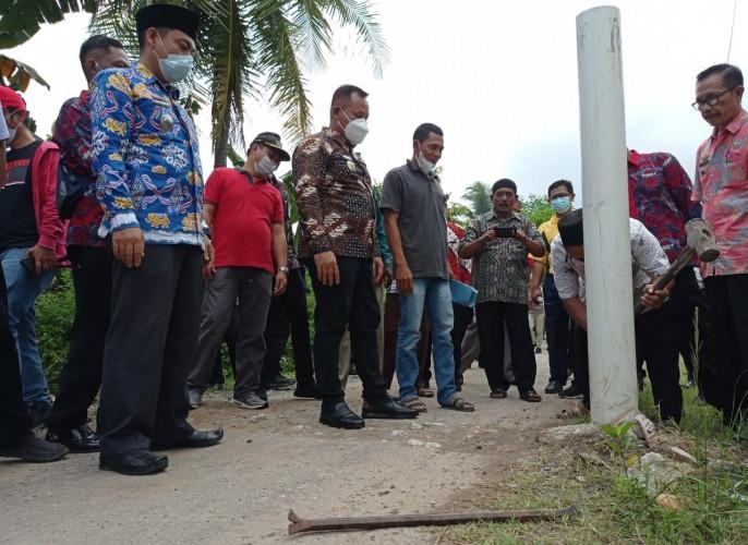 Warga Mandah di Natar Protes Aktivitas Perusahaan Tambang Batu