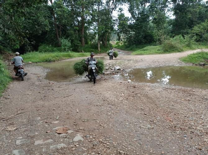 Warga Rulungsari Lamsel Berharap Jembatan Antar-Dusun