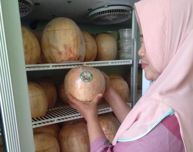 Warga Tanjungkarang Timur Kembangkan Inovasi Kelapa Muda Menjadi Jeli