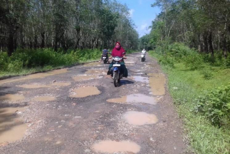 Warga Tanjungsari Minta Perbaikan Jalan