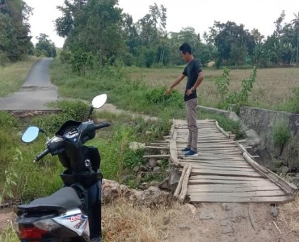 Warga Way Sulan Berharap Gorong-gorong Penghubung 2 Kecamatan Diperbaiki