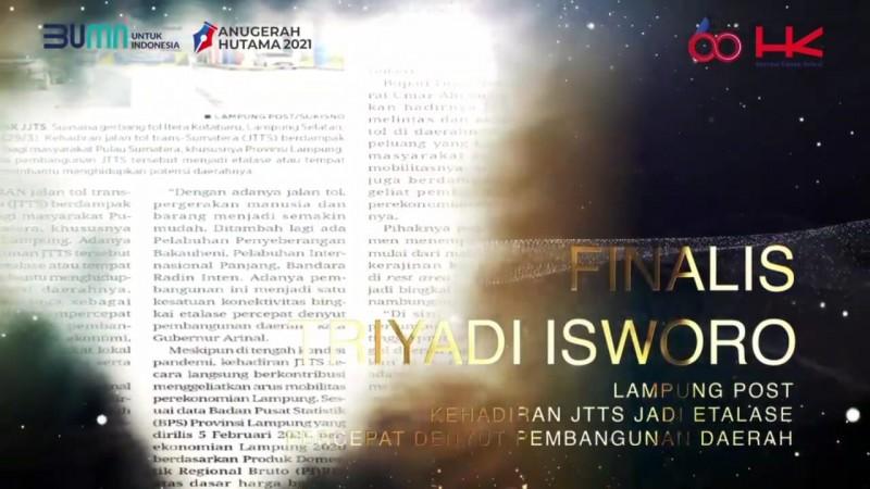 Wartawan Lampung Post Raih Anugerah Hutama 2021