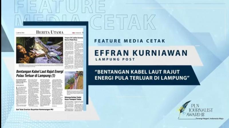 Wartawan Lampung Post Sabet Juara PLN Journalist Award 2020