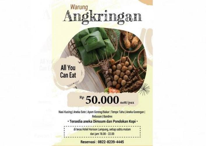 Yuk, Makan Sepuasnya di Warung Angkringan Hotel Horison Lampung
