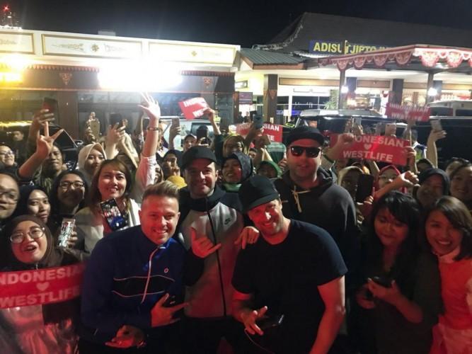 Westlife Bersiap Konser di Candi Borobudur