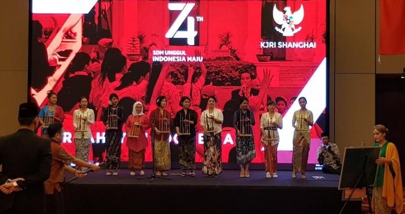 WNI Shanghai Turut Merayakan HUT ke-74 RI