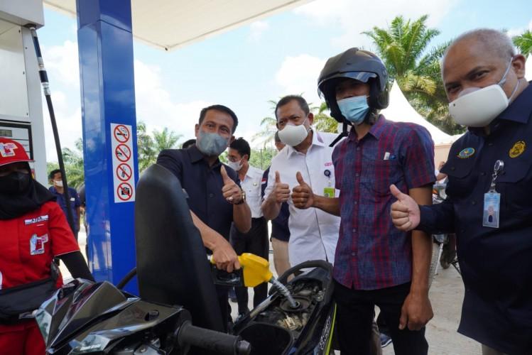 Wujudkan BBM 1 Harga, Pertamina Resmikan SPBU di Muba